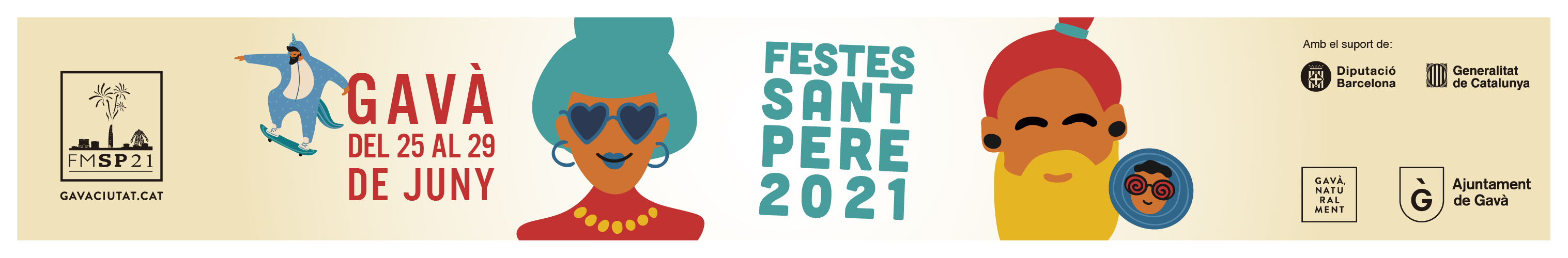 Ajuntament de Gavà – Festa Major 2021 – Capçalera